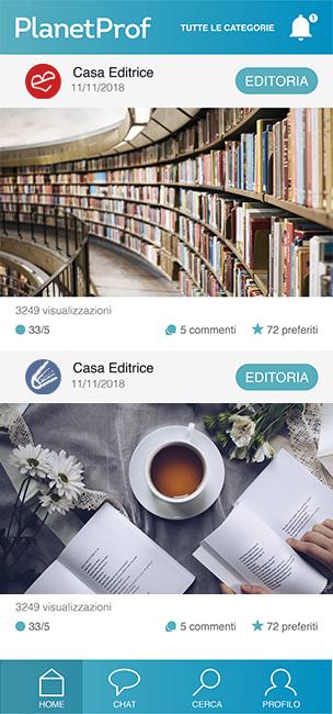 Pagina principale app planetprof